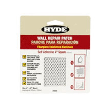 HYDE TOOLS HYDE 09898 4'' X 4'' SELF-ADHESIVE WALL  PATCH ALUMINUM