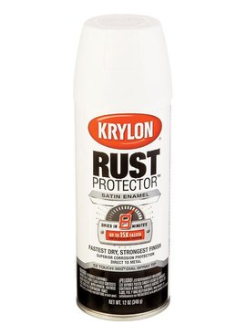 KRYLON PAINTS KRYLON RUST PROTECTOR  SATIN WHITE 12 OZ