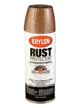 KRYLON PAINTS KRYLON RUST PROTECTOR HAMMERED BROWN 12 OZ