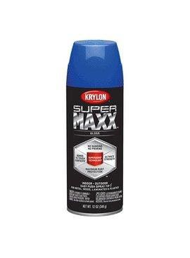 KRYLON PAINTS KRYLON SUPERMAXX  GLOSS TRUE BLUE 12 OZ
