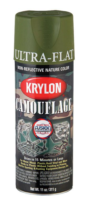 KRYLON PAINTS KRYLON FUSION CAMOUFLAGE LIGHT GREEN  11OZ