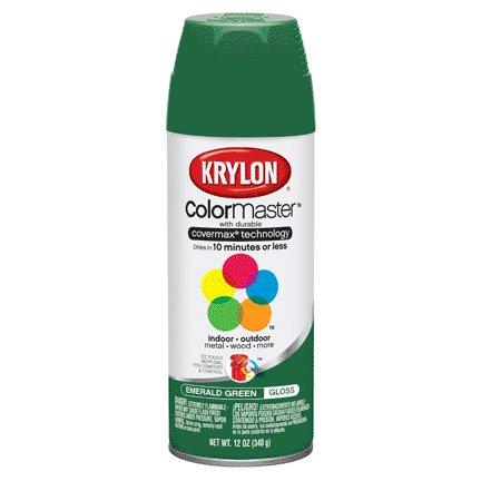 KRYLON PAINTS KRYLON GLOSS EMERALD GREEN 12 OZ
