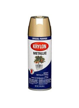 KRYLON PAINTS KRYLON METALLIC BRASS 12 OZ