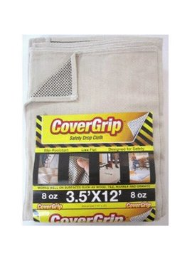 COVERGRIP 351208 3.5' X 12' SAFETY DROP CLOTH 77357 CANVAS RUNNER