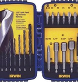 IRWIN DRILL AND DRIVE 20 PCS. SET, W/CASE