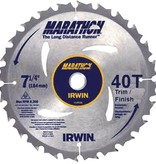 IRWIN 7-1/4'' 40T MARATHON TRIM/FINISH CIRCULAR SAW BLADE
