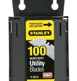 STANLEY TOOLS COMPANY STANLEY 2-7/16 IN. L X 0.024 IN. STEEL HEAVY DUTY BLADE DISPENSER WITH BLADE