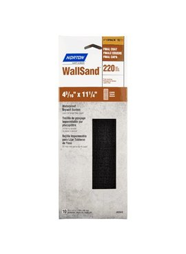 NORTON ABRASIVES 4-3/16'' X 11-1/4'' DRYWALL SANDING SCREEN 220 GRIT 10/PK