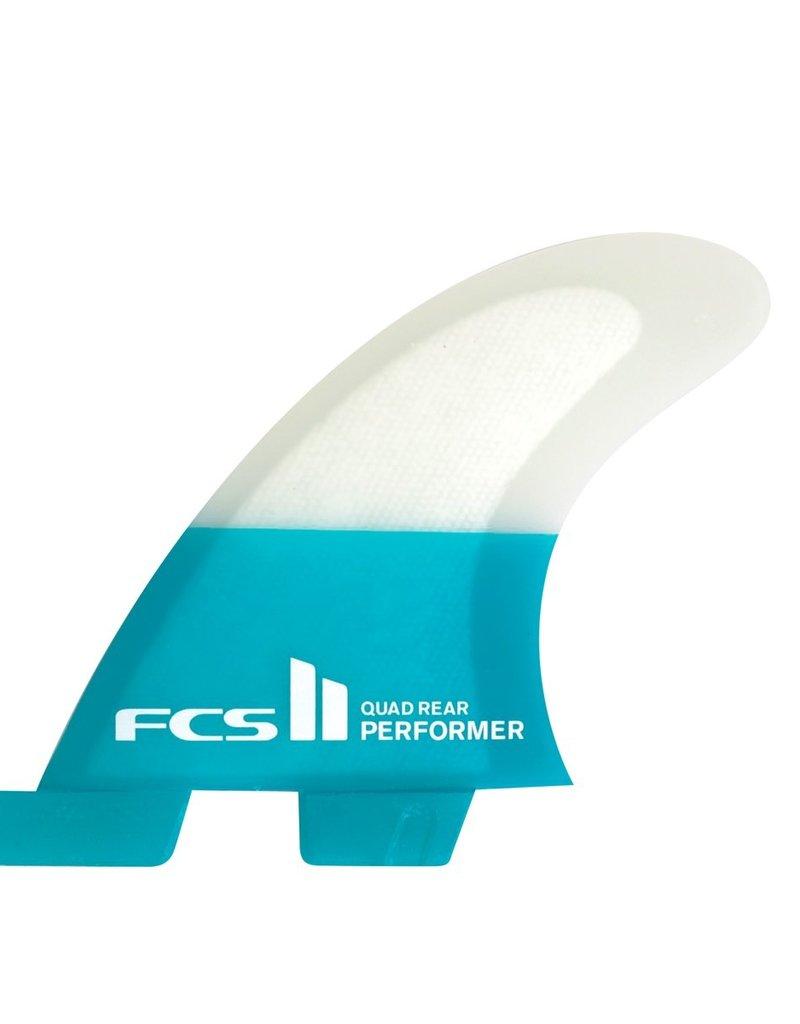 FCS FCS II Performer PC Small Quad Rear Retail Fins