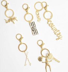 8 Oak Lane Gold Bobby Pin Keychain
