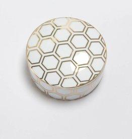 8 Oak Lane Honeycomb Porcelain Trinket Box