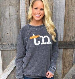 Southern Made Tees Gray TN Type Writer Crew Sweatshirt