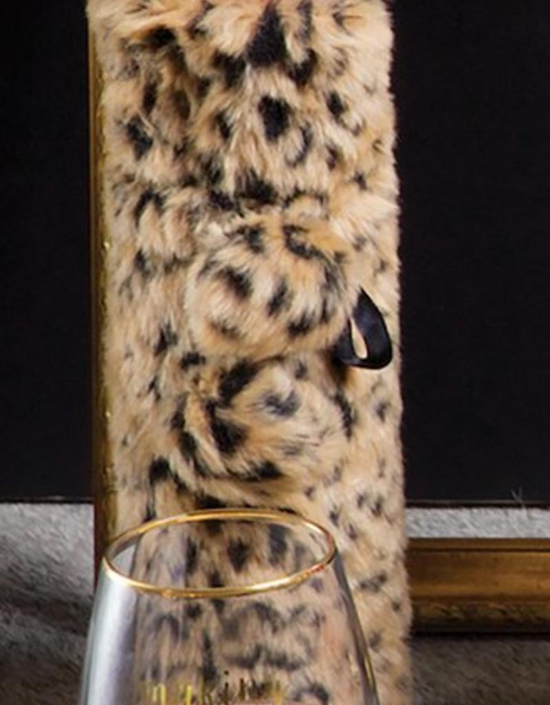 0940046fc56e 8 Oak Lane Leopard Luxe Faux Fur Wine Bag - Ta Vie Boutique