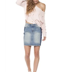 Dex Denim Mini Skirt w/ Fade