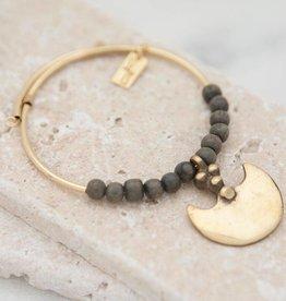 Stone + Stick Axe Wrap Bracelet