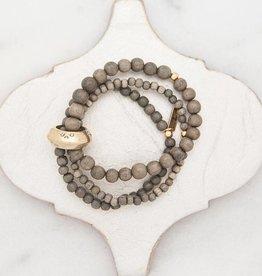 Stone + Stick Multi Strand Stretch Bracelet