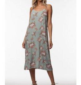 PPLA Sage Print Midi Dress