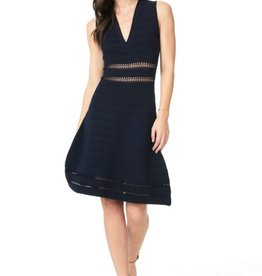 Cupcakes &Cashmere Ink Drop Needle Fit & Flare Dress