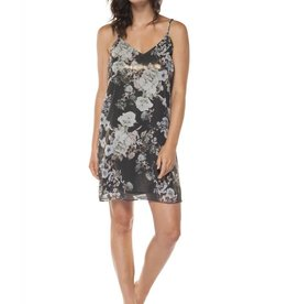 Dex Metallic Print Slip Dress