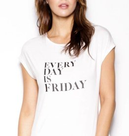 Pink Martini White Everyday is Friday Tee