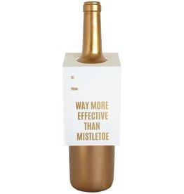 "Chez Gagne ""More Than Mistletoe"" Wine Card"