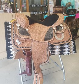 Dale Chavez Pleasure Saddle 1021 16'' Seat With Black Tooling