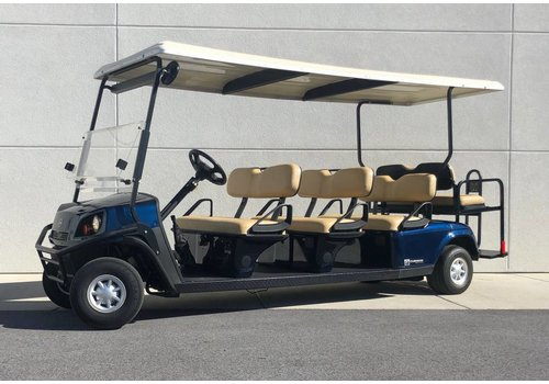 DIXIELECTRICAR USED 2013 CUSHMAN SHUTTLE STRETCH-G (PATRIOT BLUE)
