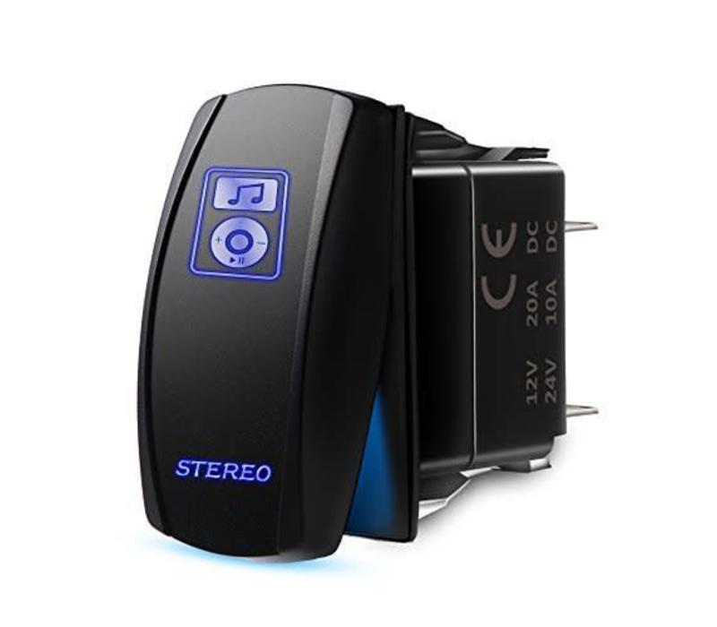 ON/OFF SWITCH STEREO (BLUE LED)