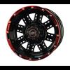 NIVEL 14x7 MJFX Black / Red Transformer Wheel Only