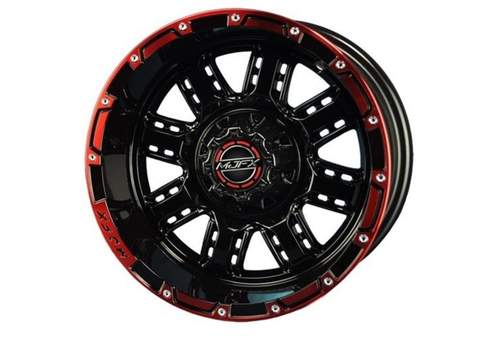 NIVEL 14x7 MJFX Black / Red Transformer Wheel Only