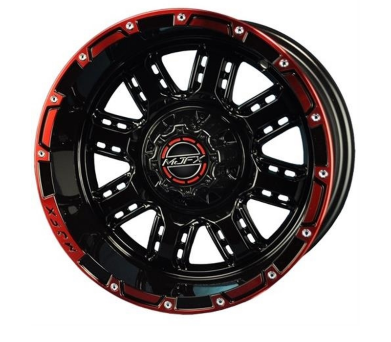 14x7 MJFX Black / Red Transformer Wheel Only