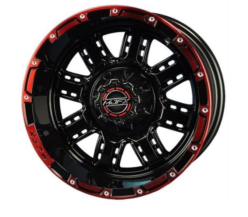 14x7 MJFX Black / Red Transformer Wheel Only