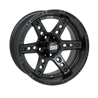 "14"" DOMINATOR MATTE BLK- STEEL BELTED RADIALS- SET OF 4"