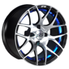 "NIVEL 14"" PURSUIT WHEEL- MACHINED/BLUE"
