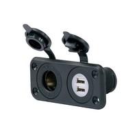 DUAL USB PORT / 12V OUTLET COMBO