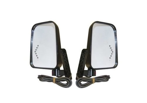 PRO-FIT SIDE MIRROR KIT W/LED TURN SIGNAL 12/48V