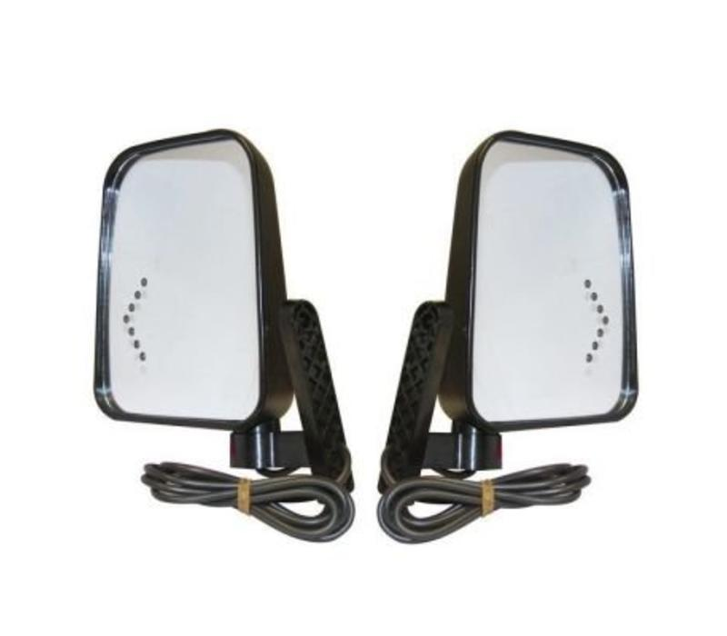 SIDE MIRROR KIT W/LED TURN SIGNAL 12/48V