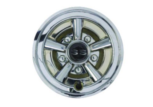 "E-Z-GO 8"" CHROME SS WHEEL COVER SET"