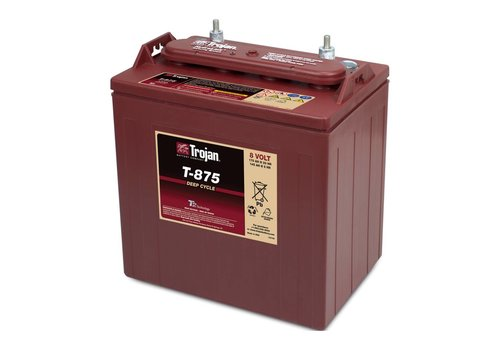 TROJAN T875 TROJAN 8 VOLT BATTERY: 115AMP HOUR