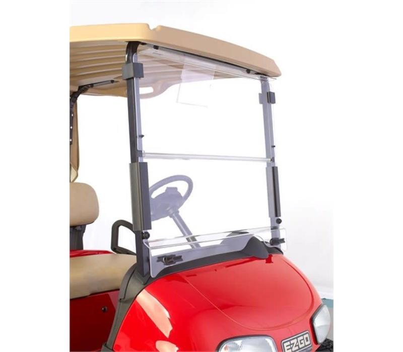 WINDSHIELD EZGO RXV HINGED CLEAR