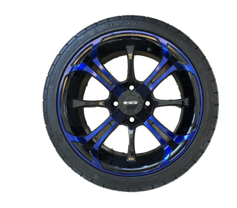 SET,14 B.LASH W/SPINOUT 14X7 BLUE/BLK