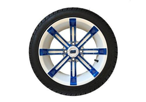 E-Z-GO SET,14 PARA. W/SPART.14X7 BLUE/WHT