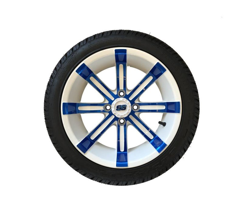 SET,14 PARA. W/SPART.14X7 BLUE/WHT