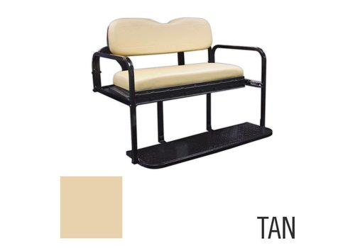 E-Z-GO REAR FLIP SEAT KIT TXT TAN 96-UP