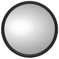 "EXTERIOR MIRROR ROUND 6"" WITH LOGO LEFT"