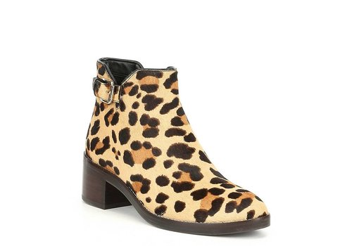 Cole Haan Harrington Grand Buckle Detail Calf Hair Booties