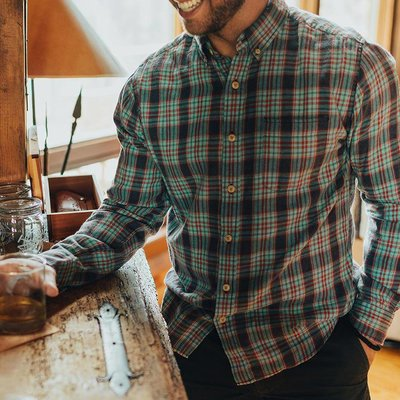 Normal Brand Seasons Plaid Button Down
