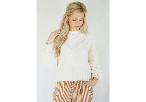 Line and Dot Jasper Fringe Sweater