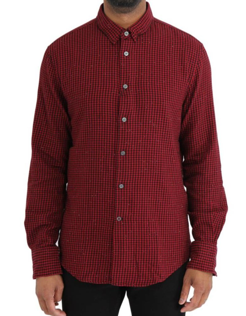 John Varvatos Long Sleeve Button Front Wire Collar