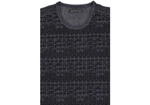 John Varvatos Long Sleeve Mix Stitch Henley